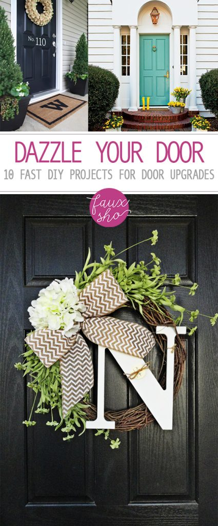 Dazzle Your Door: 10 Fast DIY Projects for Door Upgrades| Door Decor, Door Decor Ideas, How to Decorate Your Door, Door Decoration, Porch Decor, How to Decorate Your Porch, Porch DIYs
