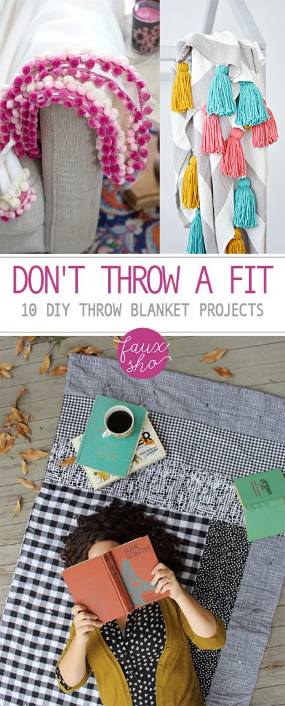Don't Throw a Fit: 10 DIY Throw Blanket Projects| Throw Blanket Projects, No Sew Blanket Projects, Easy Blanket Projects, DIY Blanket Projects, Super Simple Throw Blankets, Popular Pin