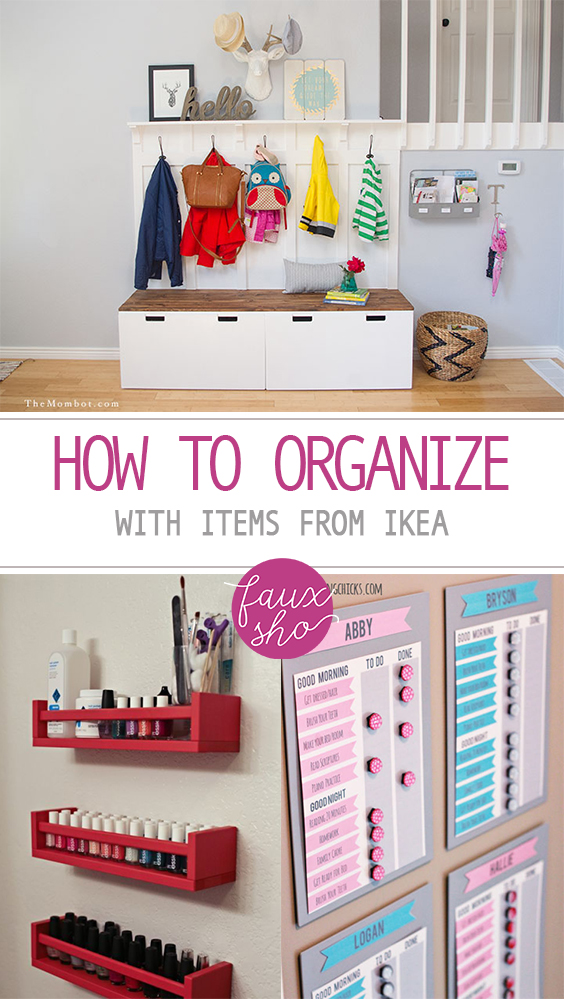 How To Organize With Items From Ikea