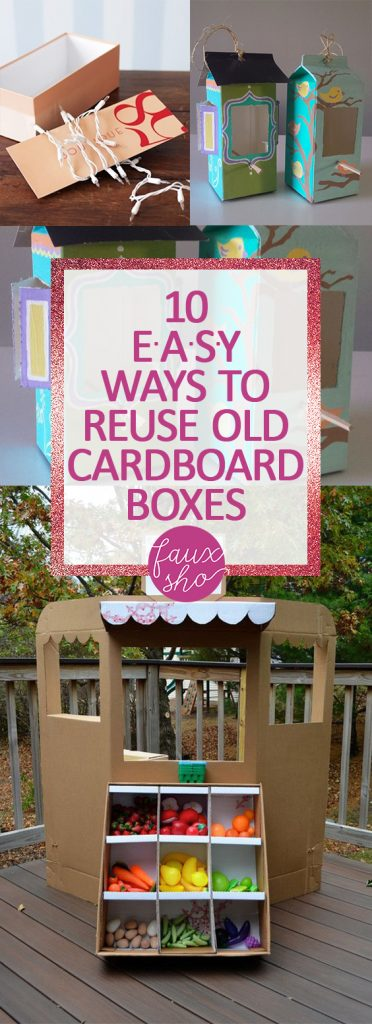 10 EASY Ways to Reuse Old Cardboard Boxes  How to Reuse Cardboard Boxes, Things to Do With Cardboard Boxes, Crafts, Crafts for the Home, Crafts for Kids, Popular Pin