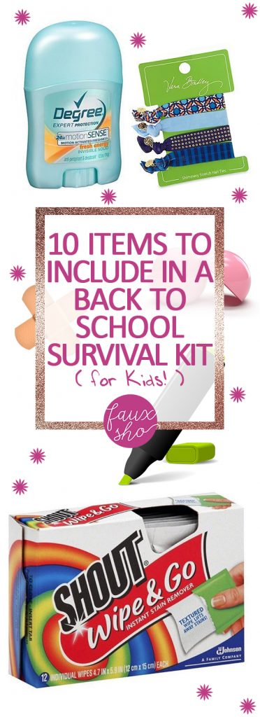 10 Items to Include In a Back-to-School Survival Kit (for Kids!) Back to School Survival Kits, Back to School Hacks, Back to School Crafts for Kids, Kid Stuff, Crafts for Kids, Popular Pin