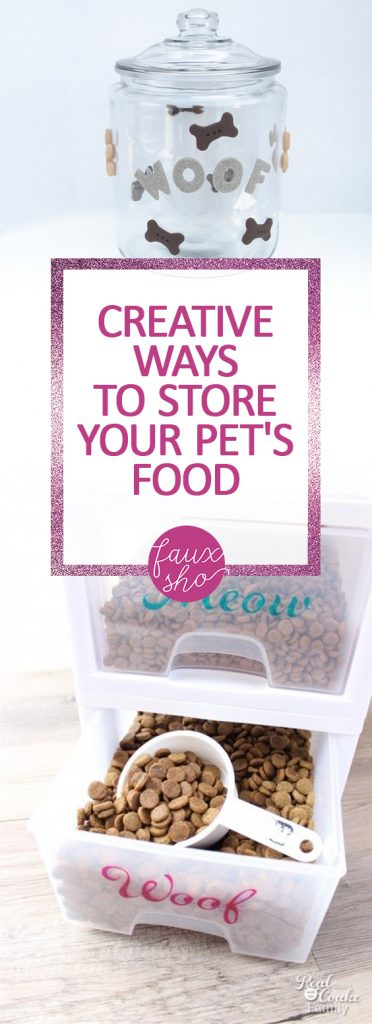Creative Ways to Store Your Pet's Food| How to Store Pet Food, Simple Ways to Store Pet Food, How to Organize and Store Pet Food, Pet Food Organization and Storage, Home Organization and Storage, Popular Pin