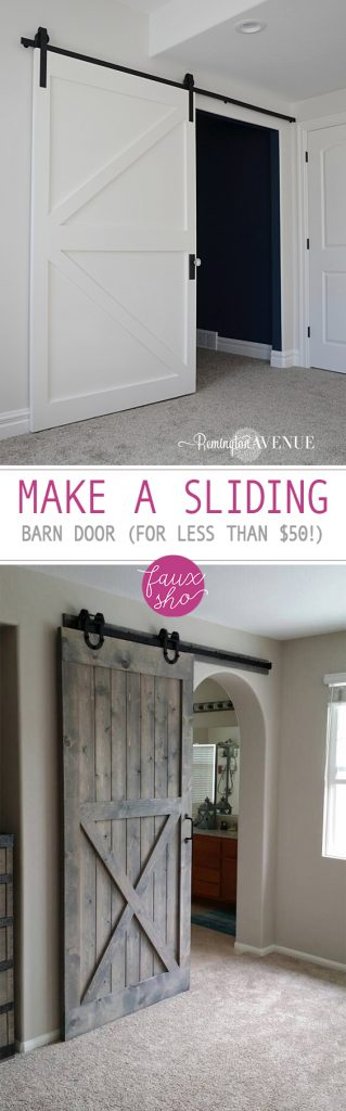 Make a Sliding Barn Door (For Less Than $50!)| Sliding Barn Door, Sliding Barn Door DIY, How to Make A Sliding Barn Door, Barn Door Projects, Easy Ways to Make a Sliding Barn Door, DIY Sliding Barn Door.
