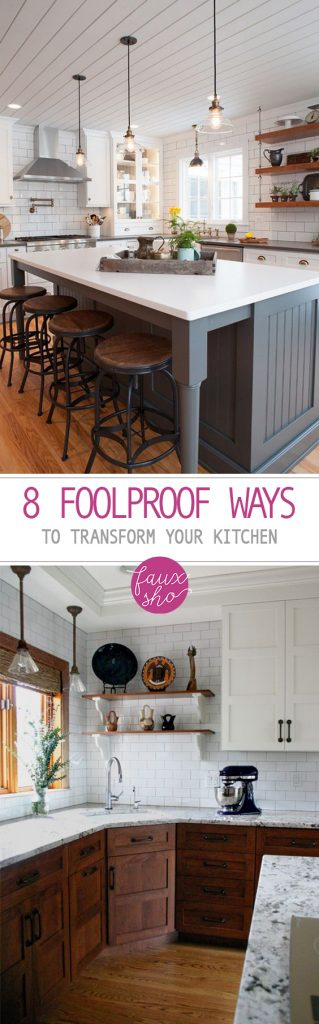 8 Foolproof Ways to Transform Your Kitchen| Transform Your Kitchen, Kitchen Transformations, DIY Kitchen Transformations, Kitchen Hacks, Kitchen Improvements, DIY Kitchen Improvements, Home Improvements. #Kitchen #KitchenImprovements #HomeImprovements