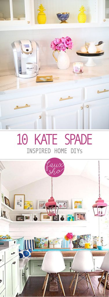 10 Kate Spade Inspired Home DIYs| Kate Spade Home Decor, DIY Home Decor,