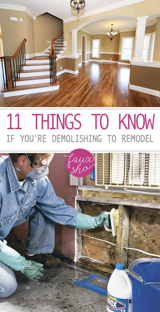 11 Things To Know If You're Demolishing to Remodel  Home Demolishing, Home Demolishing Tips, Home Decor, Home Decor TIps, Home Improvements, Home Improvement Tips and Tricks, Home Improvement. #DIYHome #HomeImprovement #HomeRemodel #HomeRemodelingProjects
