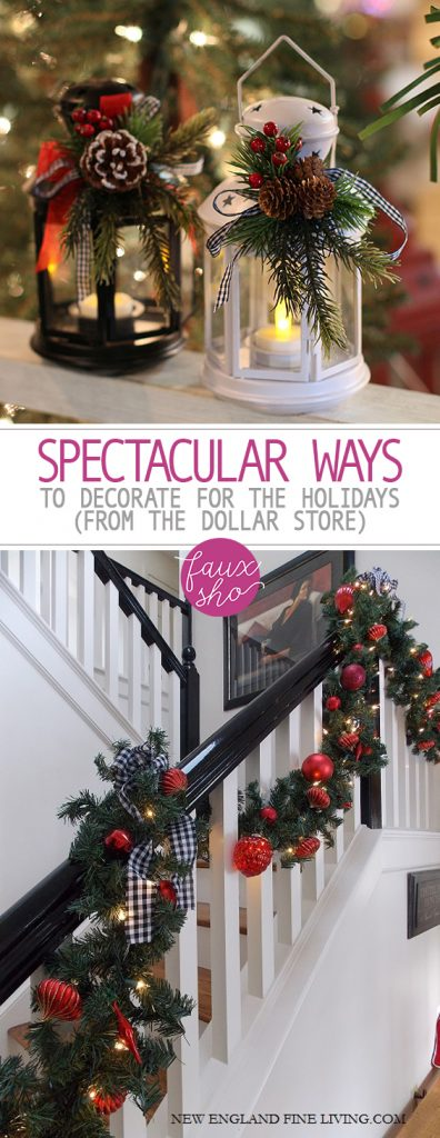 Spectacular Ways to Decorate for the Holidays (From the Dollar Store)| Holiday Decor, Holiday Home Decor, DIY Holiday, DIY Holiday Decor, Holiday Home, Christmas, DIY Christmas Decor, Christmas Decor. #Christmas #ChristmasDecor #HolidayHomeDecor