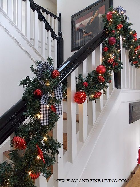 spectacular ways to decorate for the holidays from the dollar store - Decorating Banisters For Christmas With Ribbon