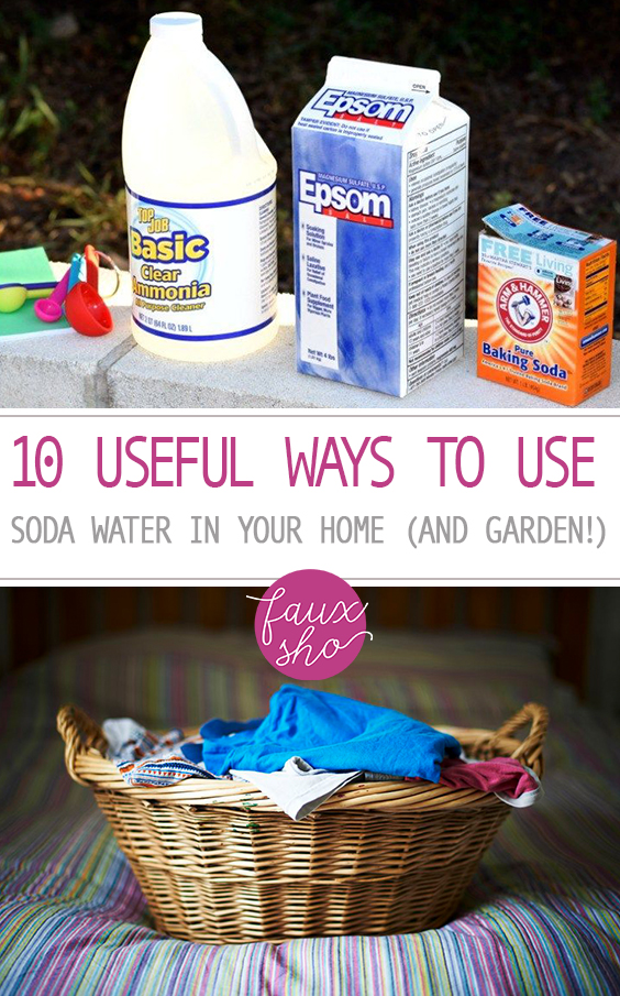 10 Useful Ways to Use Soda Water In Your Home (and Garden!)| Uses for Soda Water, How to Use Soda Water, Using Soda Water Through the Home, Home Uses for Soda Water, Popular Pin #SodaWater #SodaWaterUses