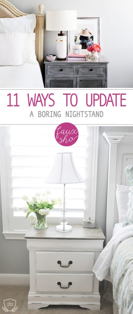 Easily update a worn down and boring nightstand with these DIY updates.| DIY Nightstand, Nightstand DIY Projects, Easy DIY Projects, DIY Updates, Easy Home Upgrades, Nightstand DIYs, Popular Pin #Nightstand #DIYNightstand