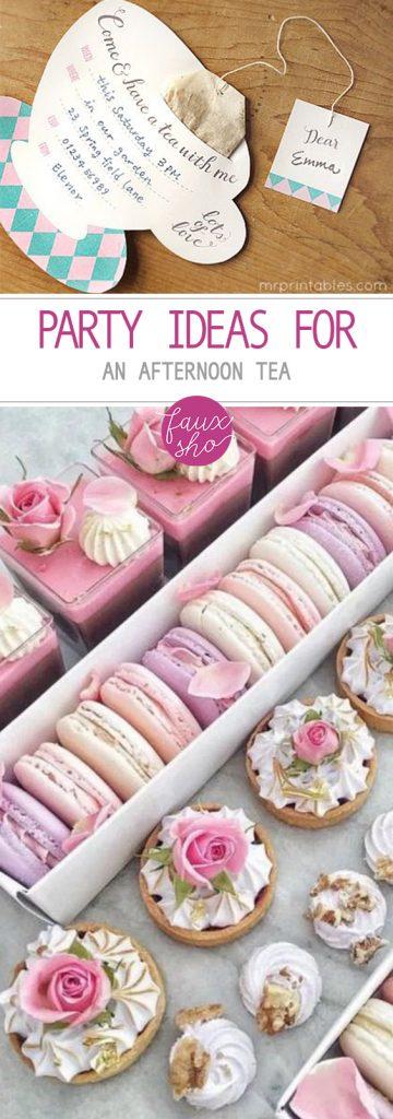 Party Ideas for an Afternoon Tea| Tea Party, Tea Party Ideas, Birthday Party, Birthday Party DIYs, Party Projects, Birthday Party Themes, Tea Party Themed Ideas, Popular Pin #BirthdayParty #TeaParty