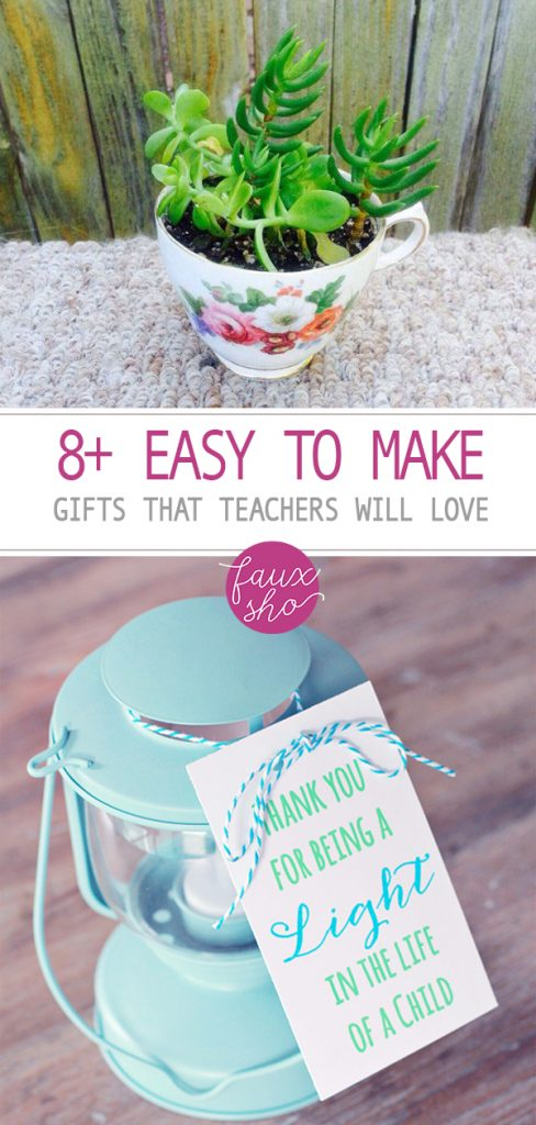 8+ Easy to Make Gifts That Teachers Will Love| DIY Gifts, DIY Gifts Ideas, DIY Gifts for Teachers, DIY Gifts Easy, Easy DIY Gifts, DIY, DIY Project, DIY Project Ideas