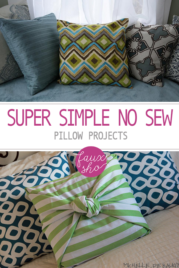 Super Simple No Sew Pillow Projects