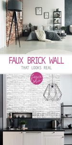 Faux Brick Wall | Realistic Faux Brick Wall | Brick Wall | DIY Faux Brick Wall | Home Decor | Brick Wall | Interior Brick Wall