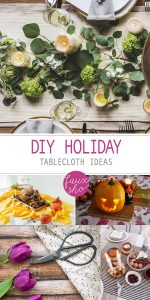 DIY Holiday Tablecloths | DIY Holiday Tablecloth Ideas | Holiday Tablecloth Ideas | Holiday Decor | Holiday Decorations | Holiday Tablecloth Ideas | Holiday Tablecloth Decor | How to Make a Holiday Tablecloth