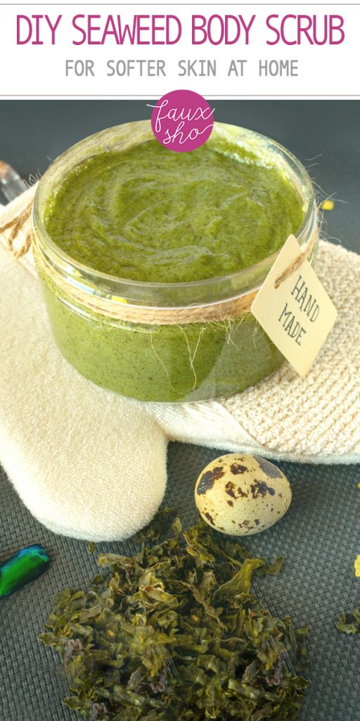 DIY seaweed body scrub | beauty | diy | skin care | seaweed | body scrub | diy body scrub