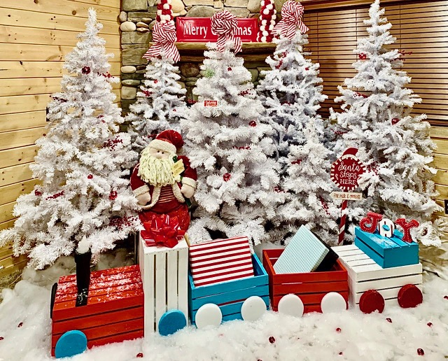If you love to display your DIY projects around the house, then you need to make this DIY Christmas train. It is so cute, festive, and easy to make!