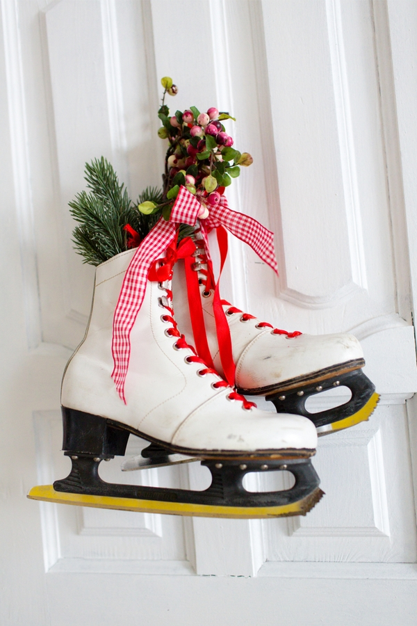 If you're looking for a fun DIY, look at these DIY ice skate Christmas decor ideas. They will add so much charm to your holiday decor.
