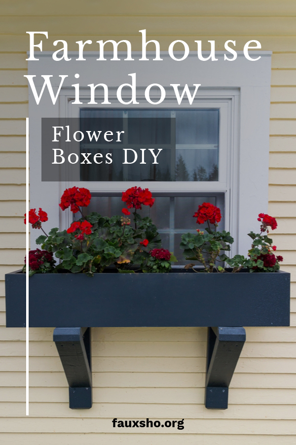 I love homes with window boxes. They make a house feel so inviting, friendly and of course they add a tremendous amount of beauty and curb appeal. Window boxes can be pretty pricey in the stores, but we have a great solution so you don't break the bank. Read on to learn about these farmhouse window flower boxes that you can DIY. Easy to follow instructions and they can be done in a day. Make your house super cute with these flower boxes. #DIYproject #DIYwindowboxes #farmhousewindowflowerbox