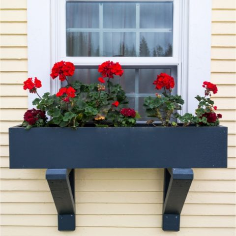 Farmhouse Window Flower Boxes DIY