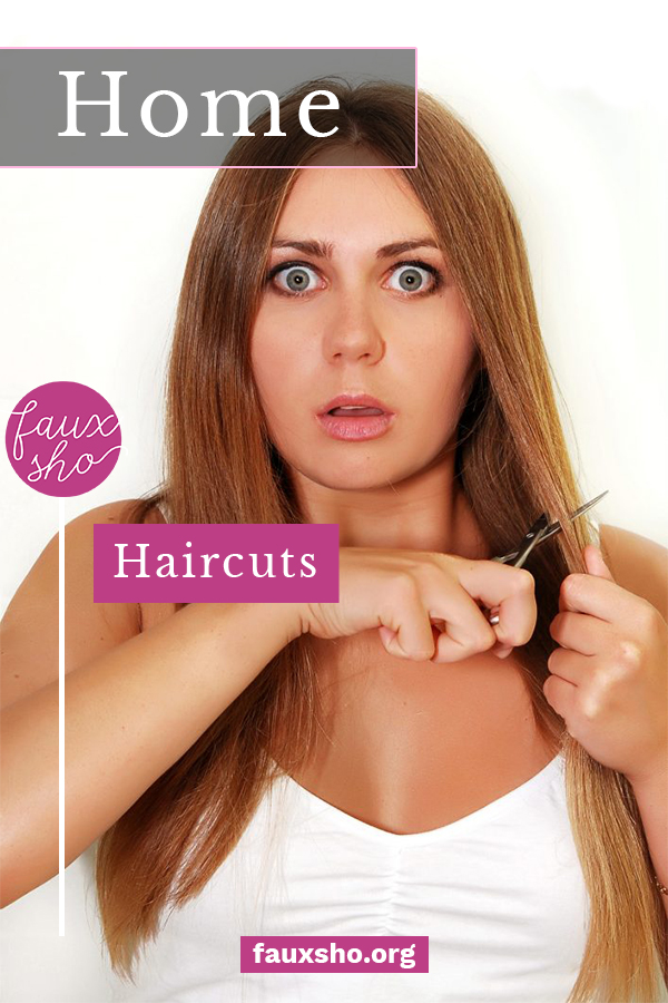 Need a crash course in cutting hair while the salons are closed? I've got you covered! #fauxshoblog #DIYHomeHairCuts #HowToCutHairAtHome
