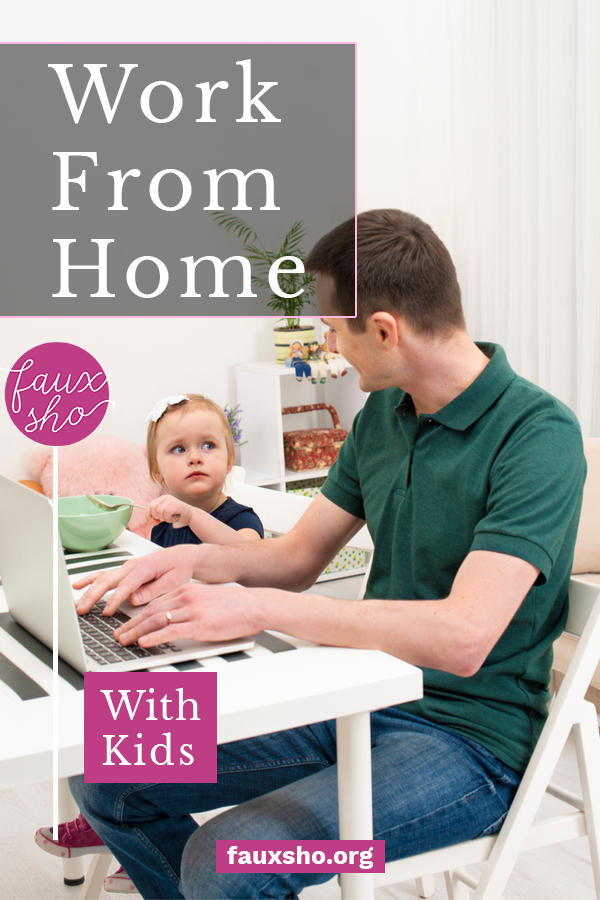 If you work from home with kids, you know it can be tough to keep on top of deadlines and responsibilities. But it doesn't have to be that way! Learn how to work from home with kids and still get your work done. #fauxshoblog #workfromhomewithkids #parentinghacks