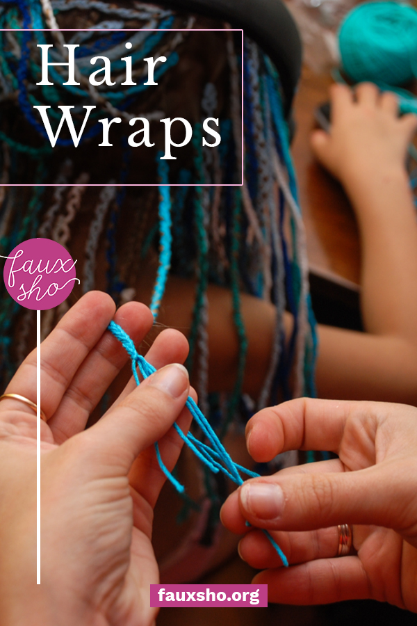 Get your summer off to a festive start by adding in some DIY hair wraps to your hair. Follow this easy tutorial to make your summer dreams come true! #FauxShoBlog #EasyDIYHairWrap #HairWrapTutorial #EmbroideryThreadHairWrap