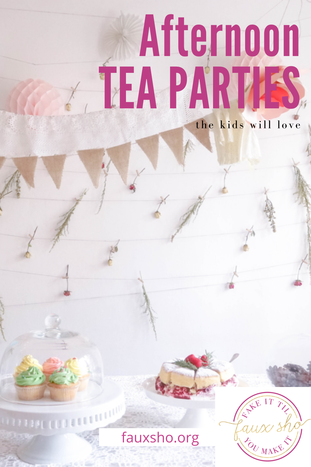 Hosting an afternoon tea party? Then you have to check out this post! From tables to decor to food, we've got all the best ideas covered. #FauxShoBlog #AfternoonTeaParty #DIYAfternoonTeaPartyIdeas #AfternoonTeaPartyDecor