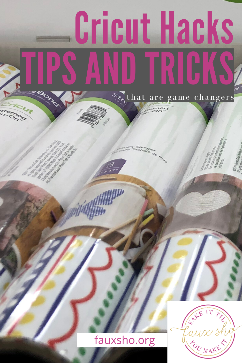 If you want to take your Cricut game to the next level, these Cricut hacks will get you there fast! Learn tips and tricks to make your skills better than ever. Read on for more info about these hacks. #howtousethecricut #cricutshortcuts #crafthacks #fauxshoblog