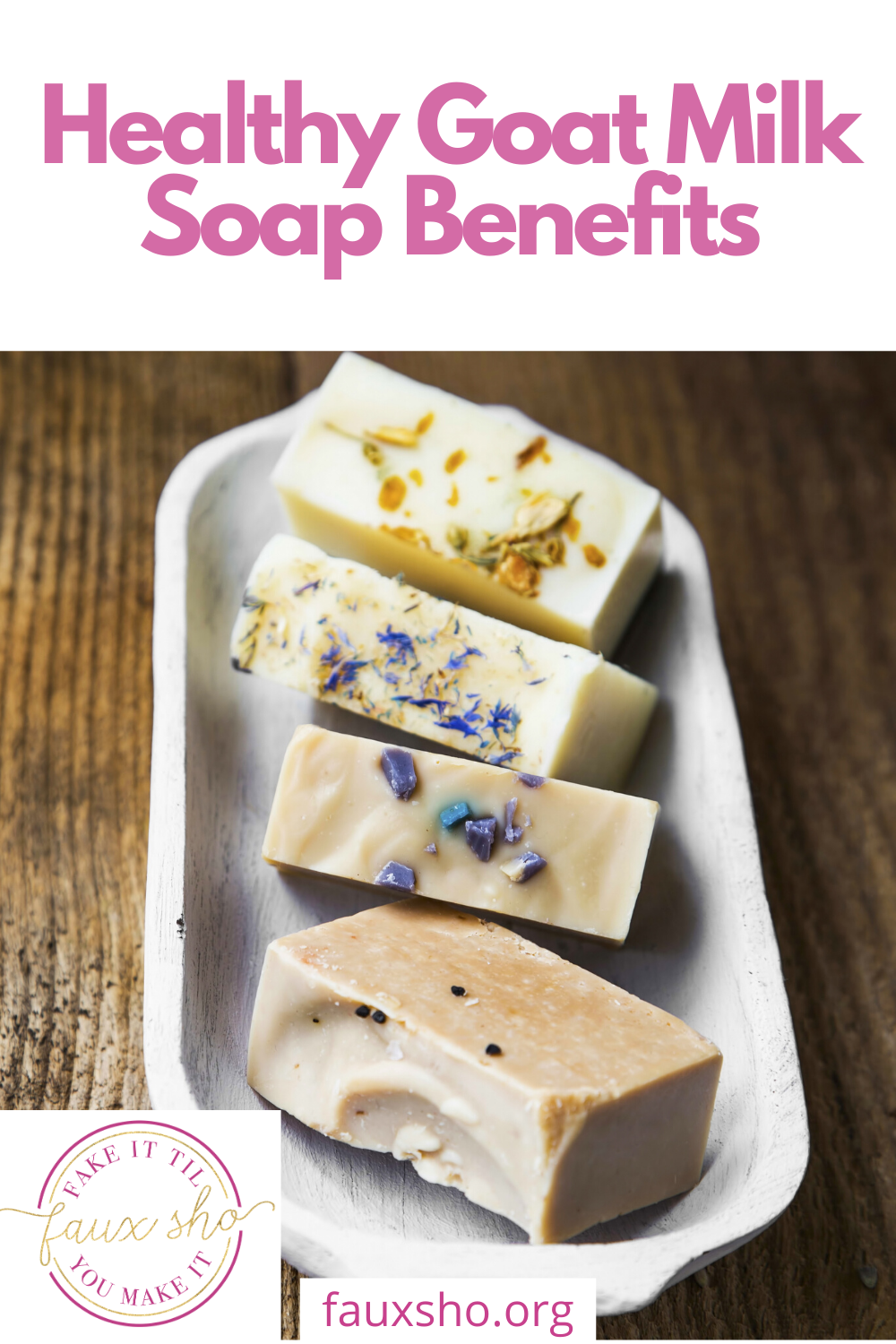 Have you heard of the health benefits you get from using goat milk soap? Goat milk soap is full of vitamins and minerals that work wonders on your skin. Learn more here! #goatmilksoap #healthygoatmilksoap #goatmilksoapwithbenefits #fauxshoblog