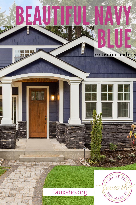Navy Blue Exterior Colors Trending Home Hacks Fauxsho Org