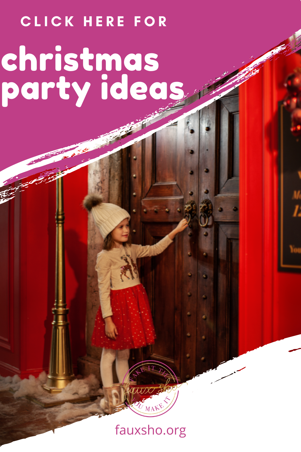 If you're planning on throwing a Christmas party for your kids, family, or co-workers, then you've got to check out these Christmas party ideas! #FauxShoBlog #ChristmasPartyIdeas #KidsChristmasPartyIdeas #FamilyChristmasPartyIdeas #WorkChristmasPartyIdeas  #christmasparty