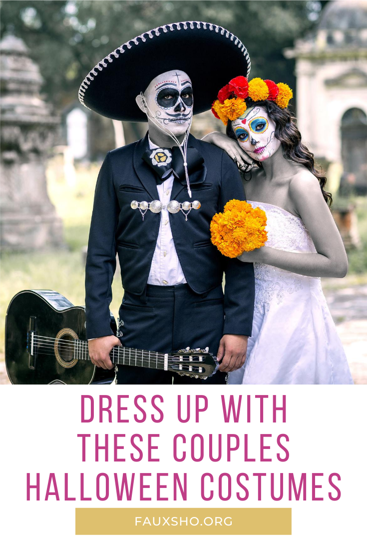 Dress up with your significant other this year for Halloween with any of these couples costumes. From funny, to scary and DIY ideas, you will surely find something you love. Read the post to learn more. #fauxshoblog #halloweencostumes #DIYhalloweencostumes