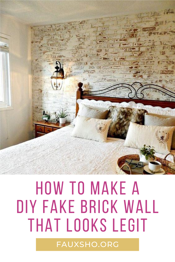 Everybody wants a house with a cool brick wall. But, if you don't have one, fauxsho.org can show you just how easy it is to make one. Visit the blog for tips and tricks and other amazing projects. #fauxbrickwall #brickwall #homedecor #DIY #fauxsho.blog