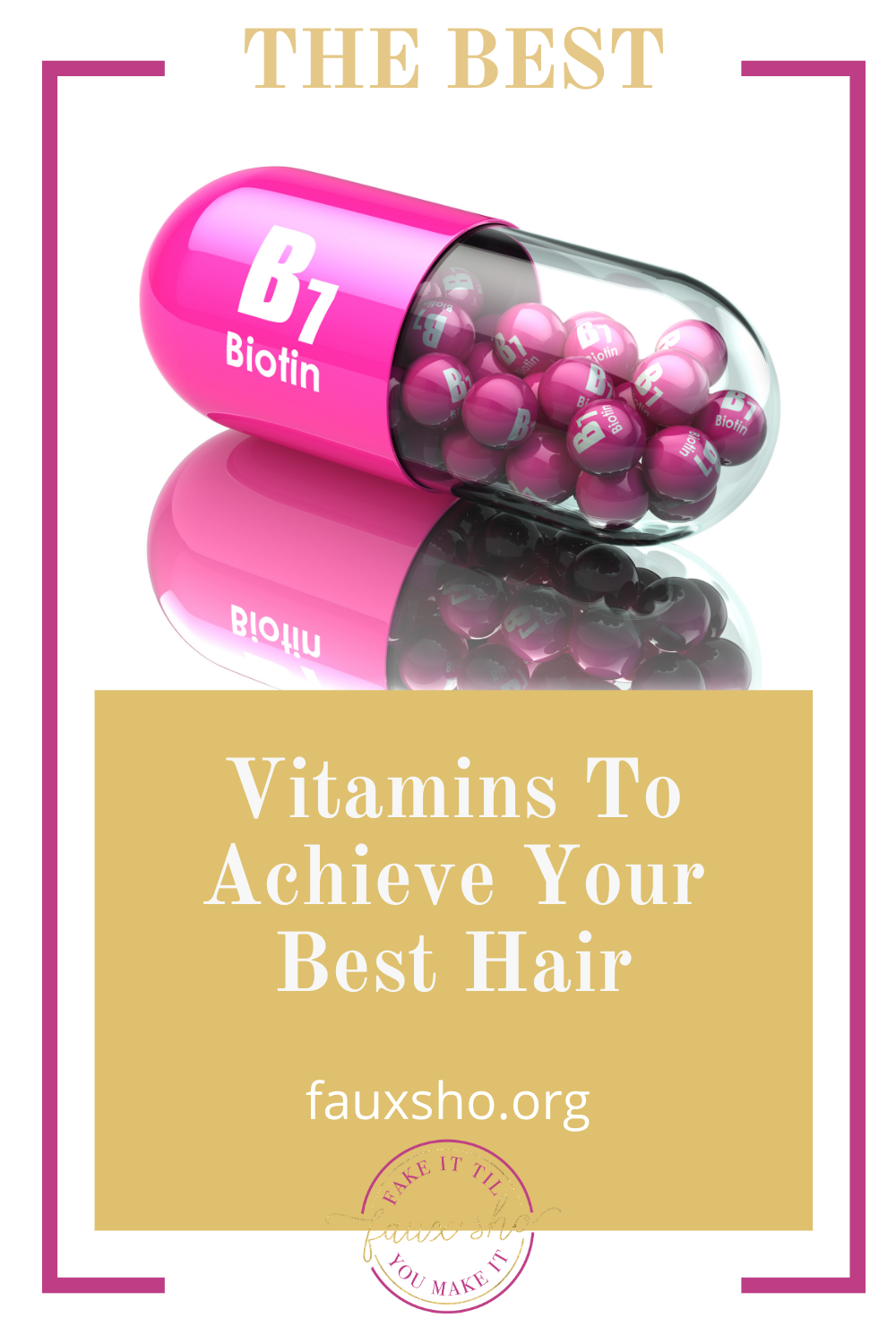 Fauxsho.org is the place to go for everyday solutions! Stop fussing with dead, lifeless hair. Check out these essential vitamins you should be taking to keep your hair long, strong, and healthy!