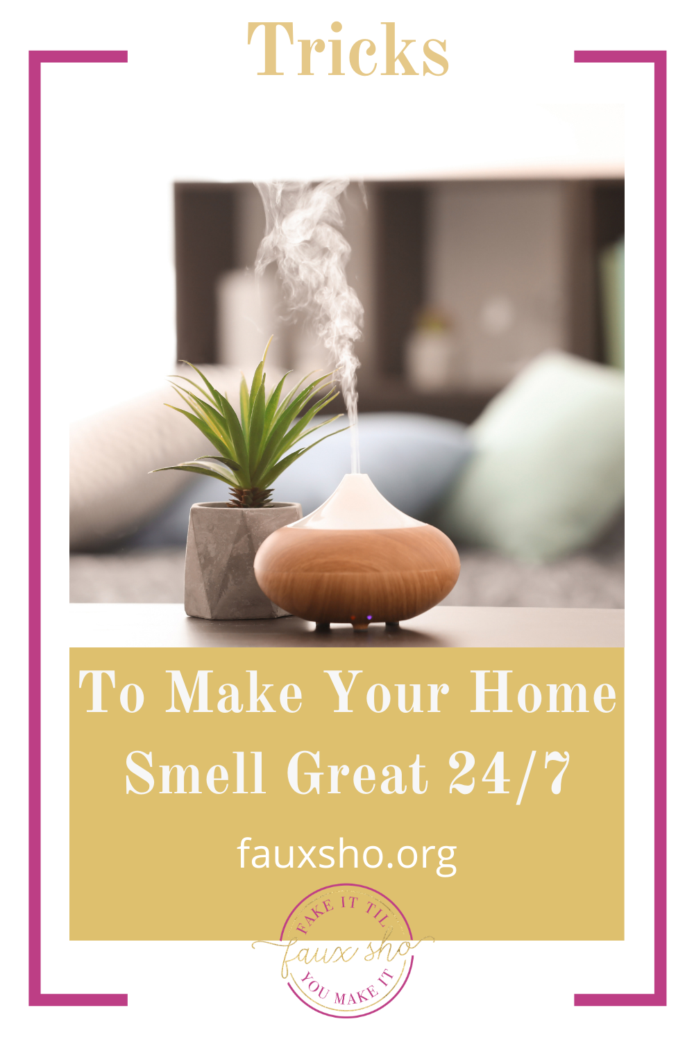 Fauxsho.org is loaded with easy and creative hacks for your everyday life. Find solutions for every little problem. Learn how to make your home smell fantastic all the time.