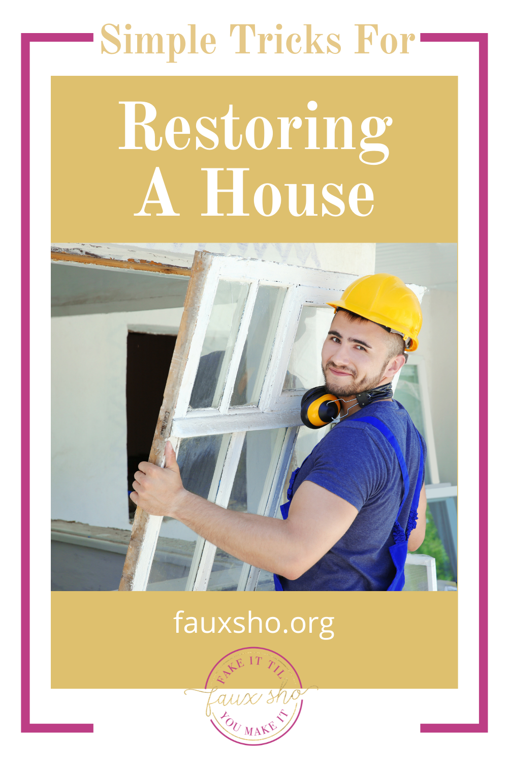 Fauxsho.org will help you find out how to do things on your own--even without any experience! Looking to fix up an outdated space? Find out how you can restore a home on your own now!