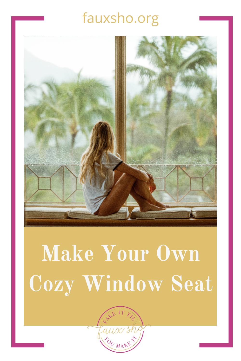 Fauxsho.org is loaded with DIY ideas for crafters of all skill levels and abilities! Transform your space into something unique and personal. Make your very own window seat with these fun ideas!