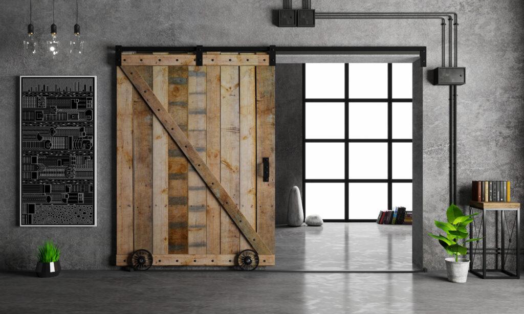 Installing a bypass barn door
