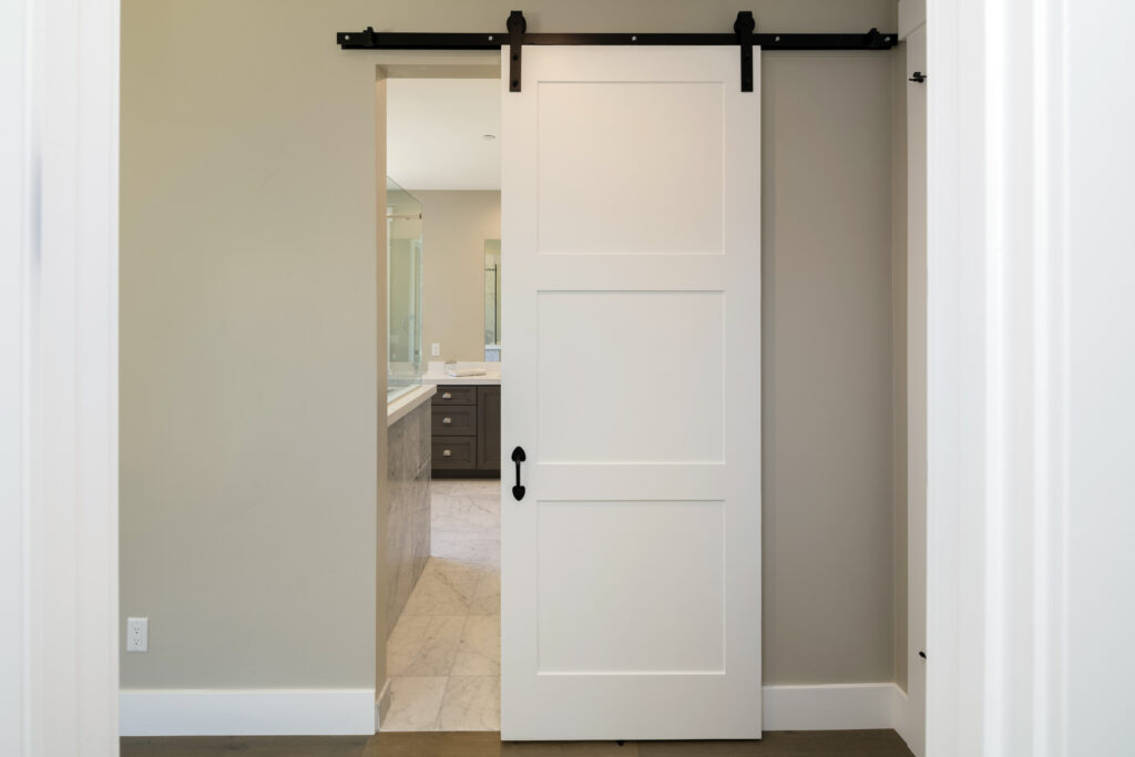 Two important steps in building a bypass barn door