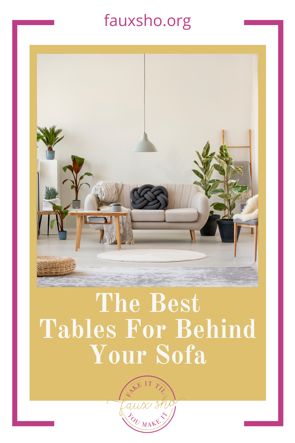 Fauxsho.org will fill you in on all you're missing. Find the perfect piece of furniture your home is missing! These tables are all perfect for filling the space behind your couch!