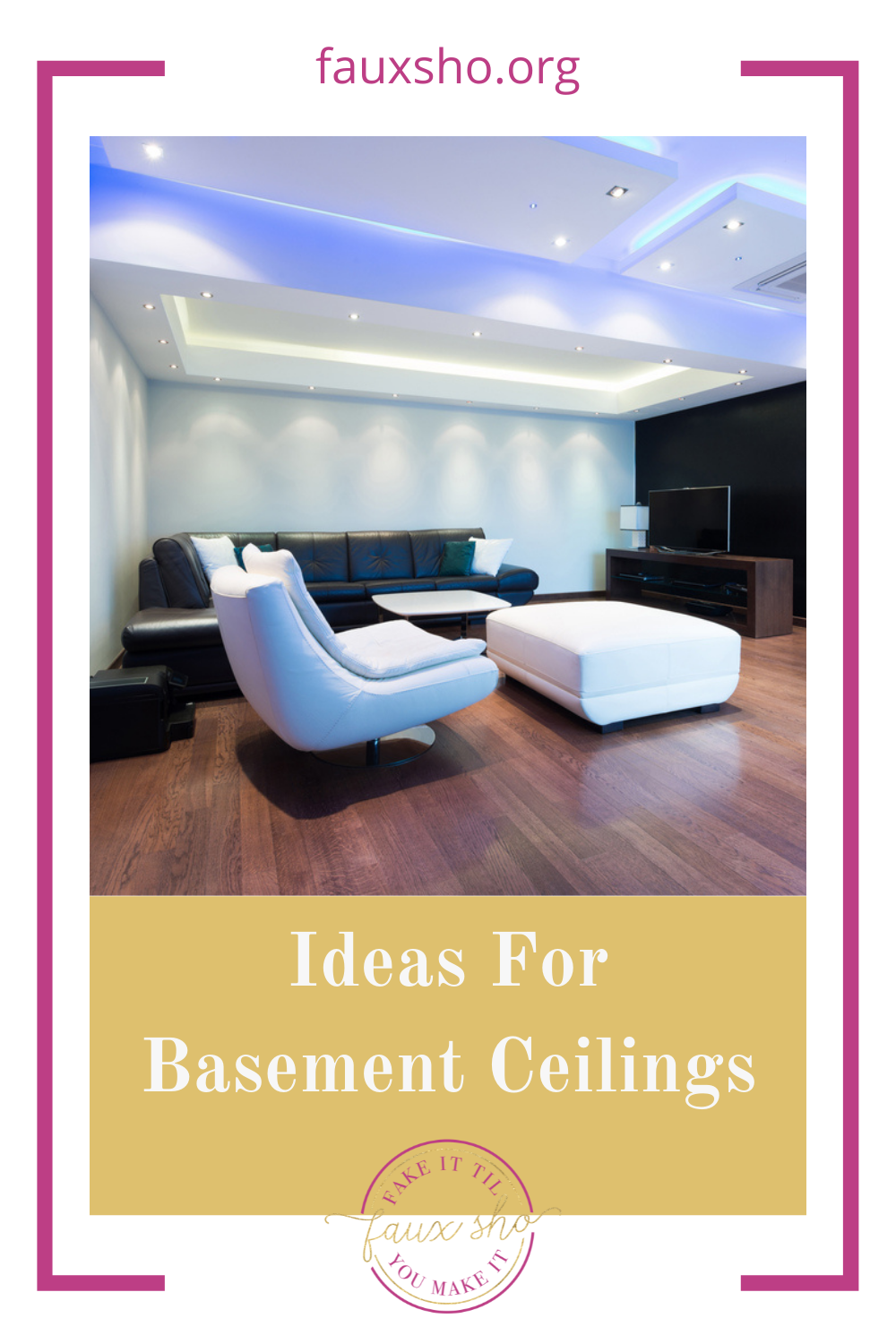 Fauxsho.org has the best ideas to help you fake it 'til you make it! Get the luxury of a deep bathtub in your home. Try these ideas for making your basement ceiling feel higher!