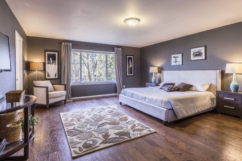 gray curtains with gray walls