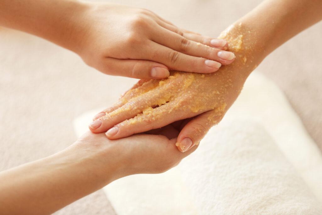 homemade hand scrub for hygiene