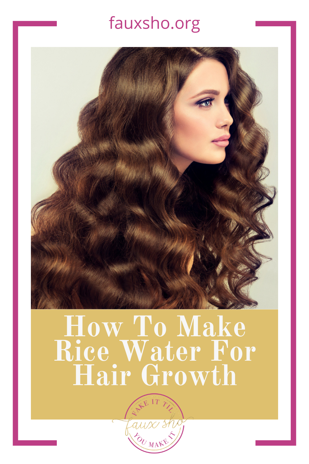 Fauxsho.org has the best ideas to help you fake it 'til you make it! Get long hair in no time. Try this method for making rice water to speed up results!